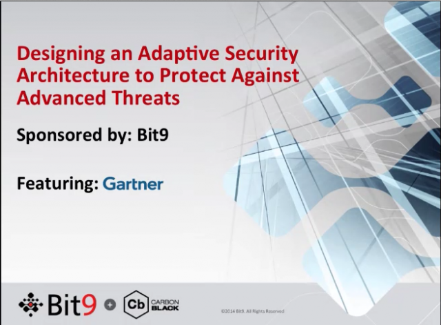 Designing an Adaptive Security Architecture to Protect Against Advanced Threats