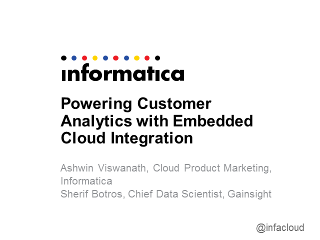 Powering Customer Analytics with Embedded Cloud Integration