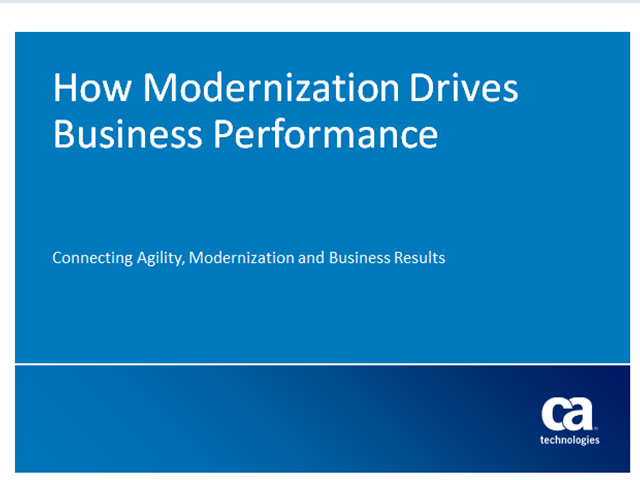 How Modernization Drives Business Performance
