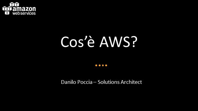 Introduzione ad Amazon Web Services