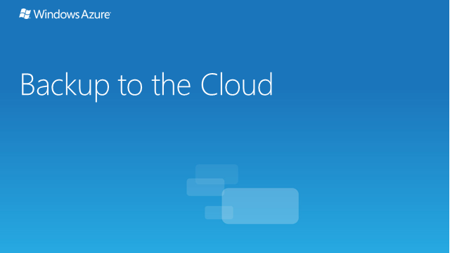 Windows Azure Cloud Storage and You