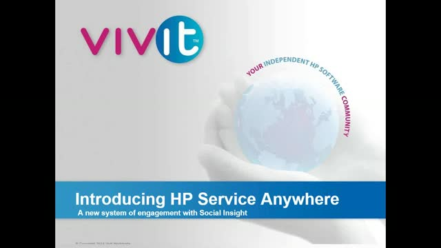 Introducing HP Service Anywhere with Social Insight