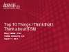 Top 10 Things I Think I Think about ITSM