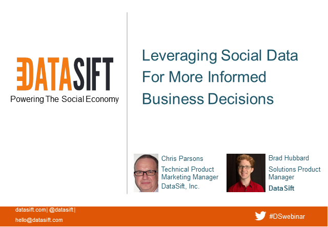 Leveraging Social Data For More Informed Business Decisions