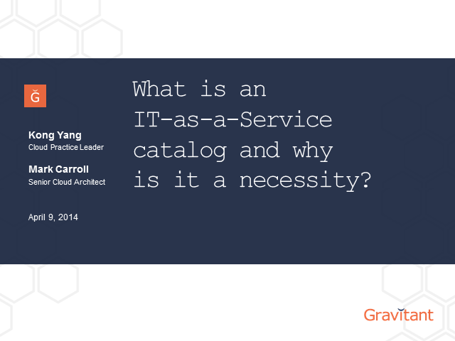 What is an IT-as-a-Service Catalog and Why is it a Necessity?