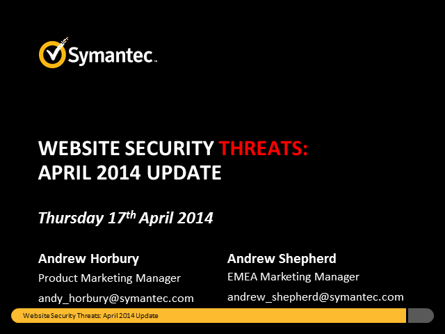 Website Security Threats: April Update