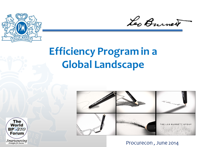 Efficiency Programme in an International-Global Landscape - How to Build Better