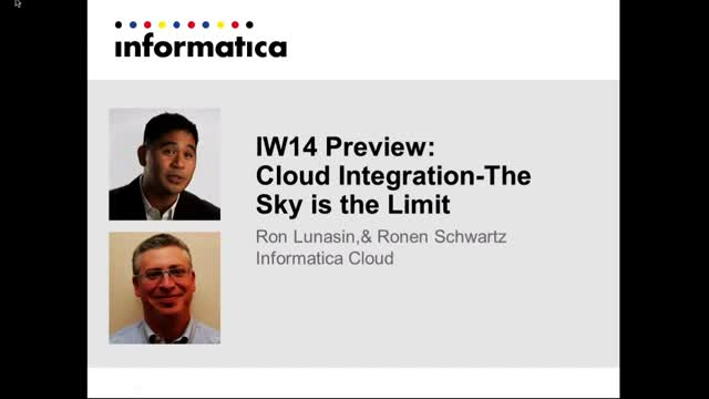IW14 Preview: Cloud Integration-The Sky is the Limit