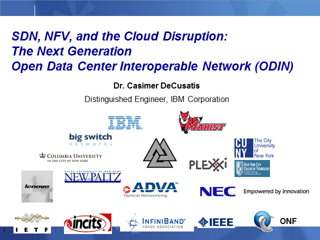 SDN, NFV, and the Cloud Disruption: The Next Generation ODIN
