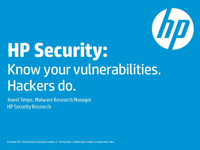 Beyond best practices – Lessons from the HP Cyber risk report