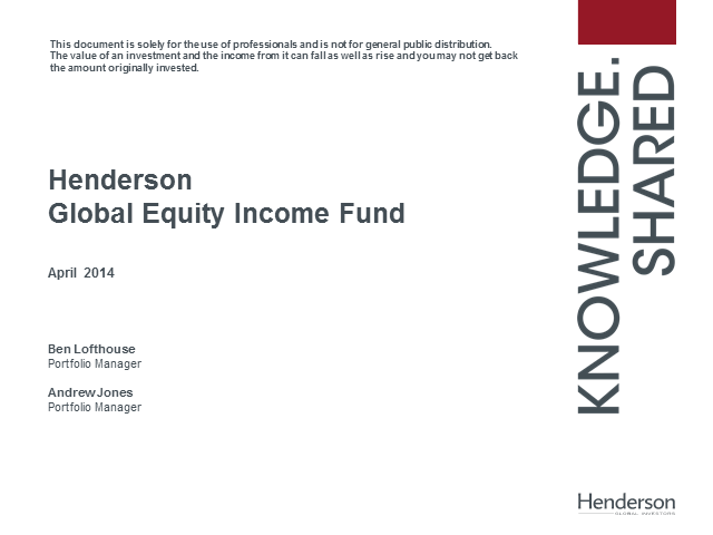 Henderson Global Equity Income Fund update
