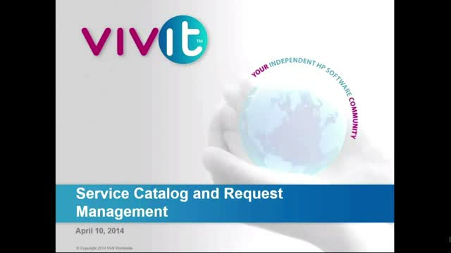 Service Catalog and Request Management