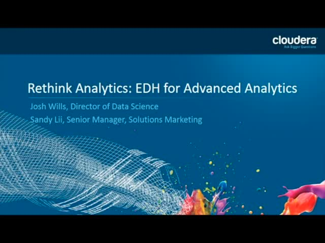Rethink Analytics with an Enterprise Data Hub