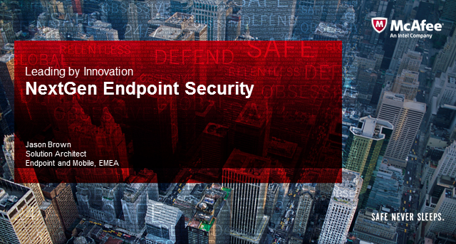 An introduction to and demonstration of NextGen Endpoint