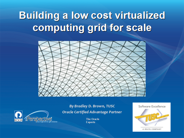 Building a low cost virtualized computing grid for scale
