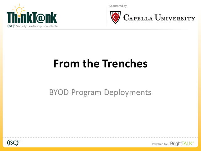 From The Trenches: BYOD Program Deployments
