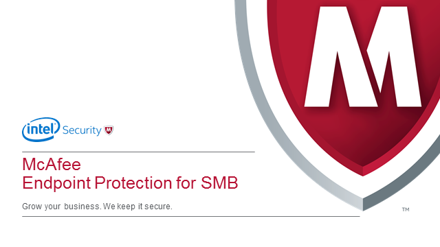 New McAfee Endpoint Protection for SMB