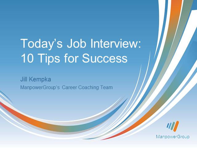 Today's Job Interview: 10 Tips for Success