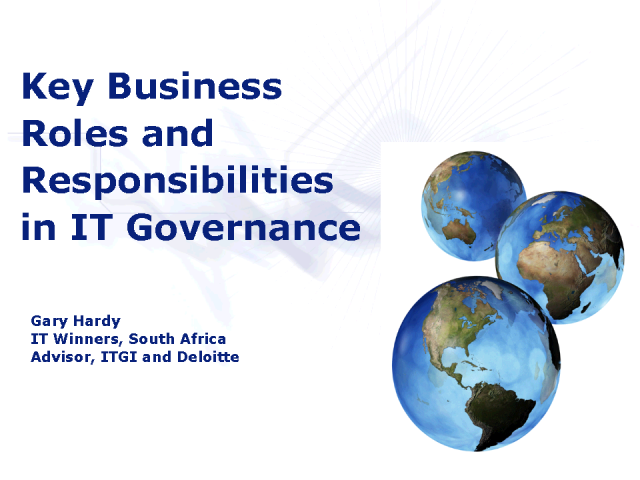 Key Business Roles and Responsibilities in IT Governance