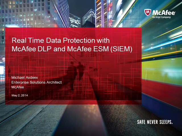 Real-time data protection with McAfee DLP and McAfee ESM