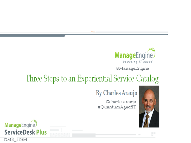 Three Steps to an Experiential Service Catalogue