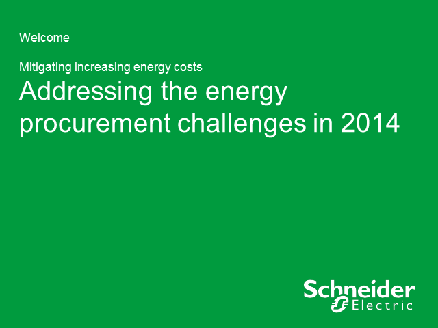 Addressing the energy procurement challenges of 2014