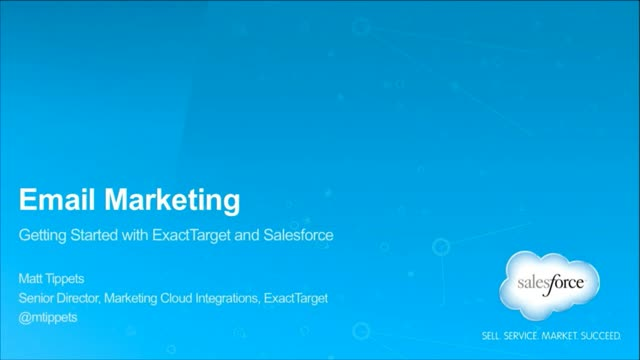 Getting Started with ExactTarget Email and Salesforce