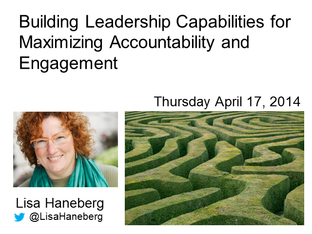 Building Leadership Capabilities for Maximizing Accountability and Engagement