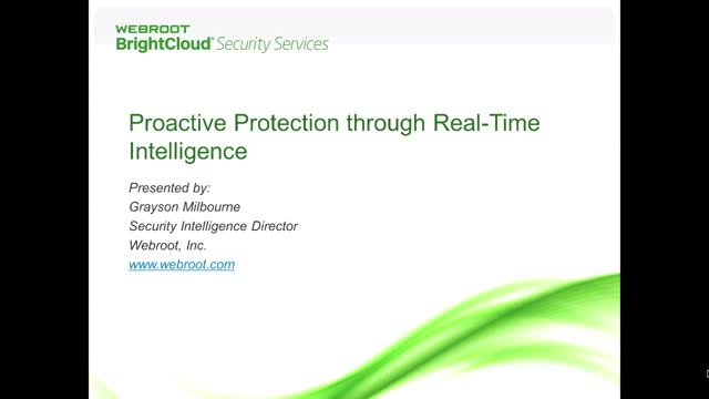 Proactive Protection through Real Time Intelligence