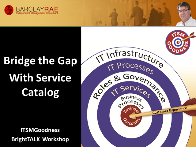 Bridge the Gap with Service Catalog