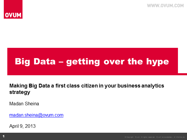 Big Data – Getting Over the Hype