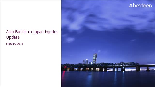 Asia-Pacific ex Japan Equities Update: February 2014