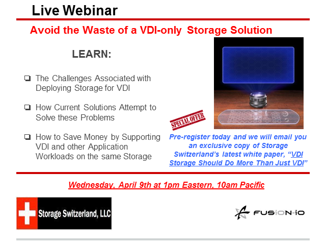 Avoid the Waste of a VDI-only Storage Solution