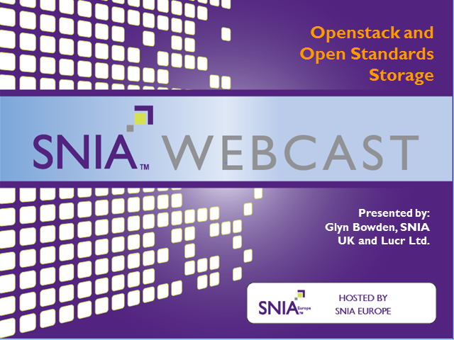 OpenStack and Open Standards Storage