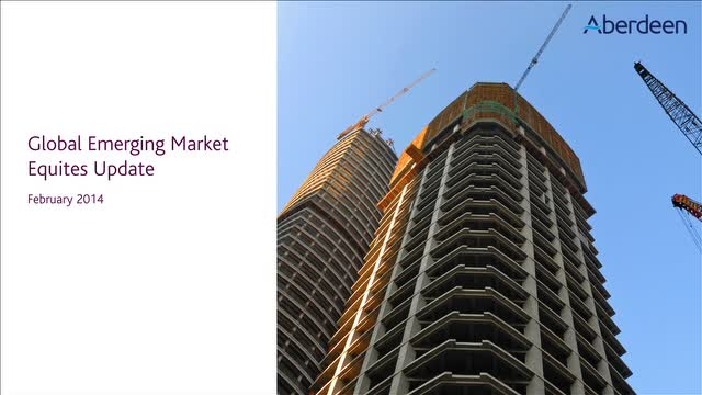 Global Emerging Market Equities Update: February 2014