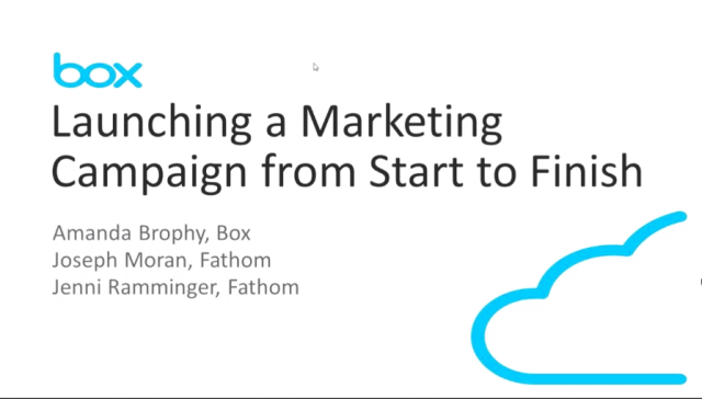 Launching a Marketing Campaign from Start to Finish in Box