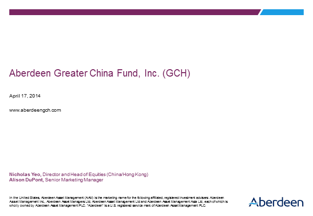 Aberdeen Greater China Fund, Inc. (GCH)