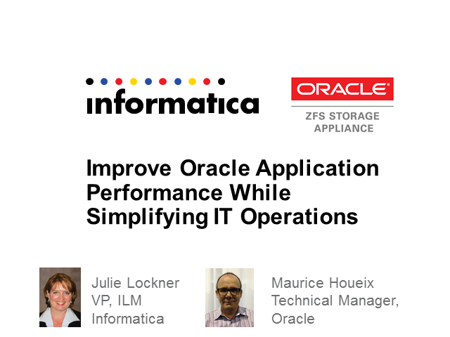 Improve Performance While Simplifying IT for Oracle Applications