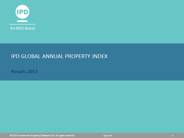 IPD Global Annual Property Index - 2013 results