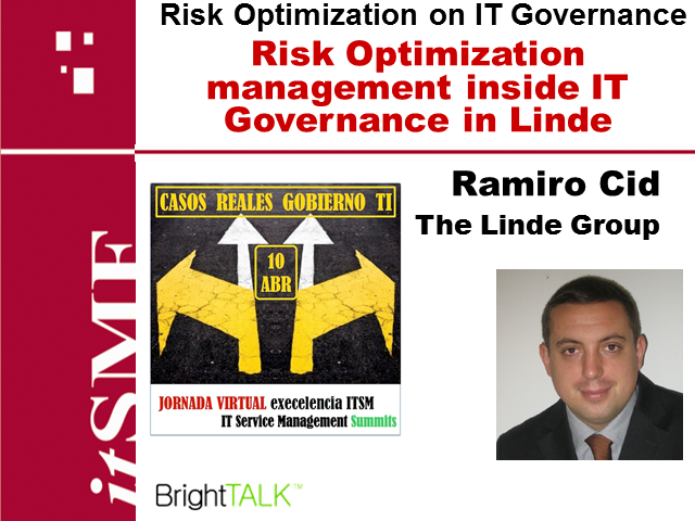 Risk Optimization management inside IT Governance in Linde