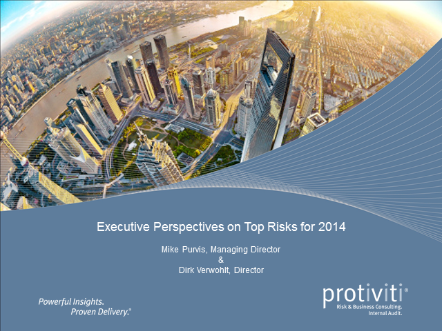 Executive Perspectives on Top Risks for 2014
