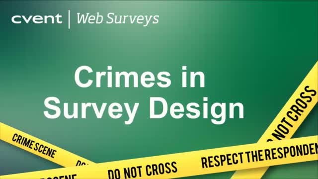 Crimes in Survey Design