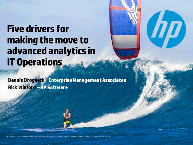 Five drivers for making the move to advanced analytics in IT Operations