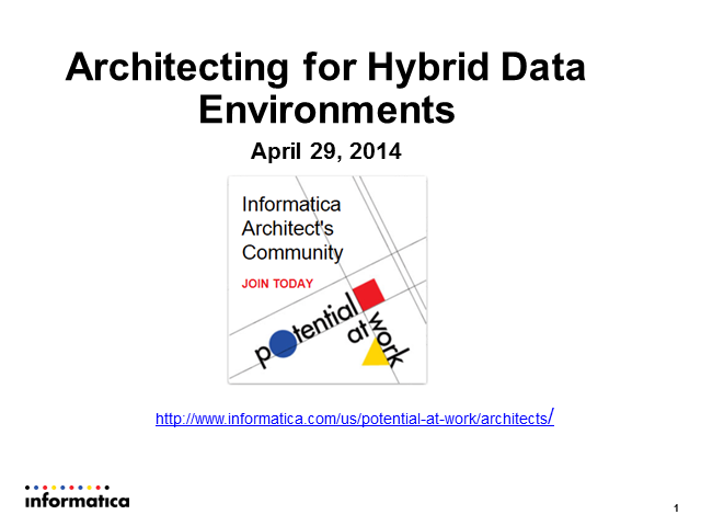 Architecting for Hybrid Data Environments
