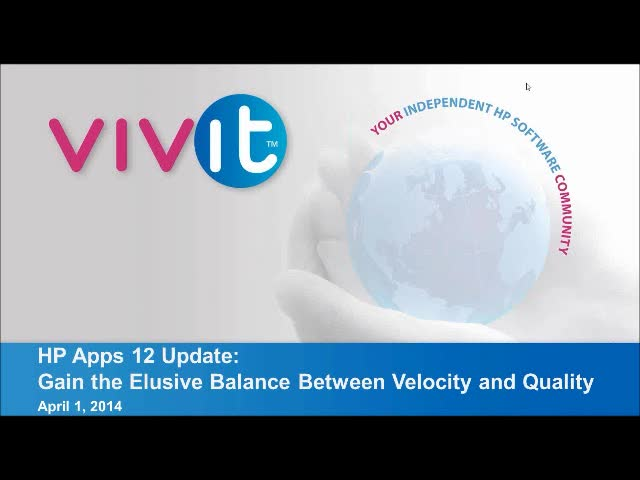 HP Apps 12 Update: Gain the Elusive Balance Between Velocity and Quality