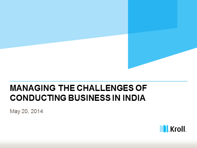 Managing the Challenges of Conducting Business in India