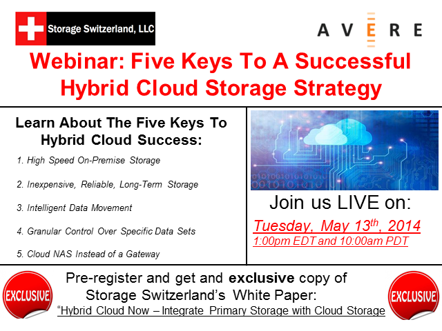 Five Keys To A Successful Hybrid Cloud Storage Strategy