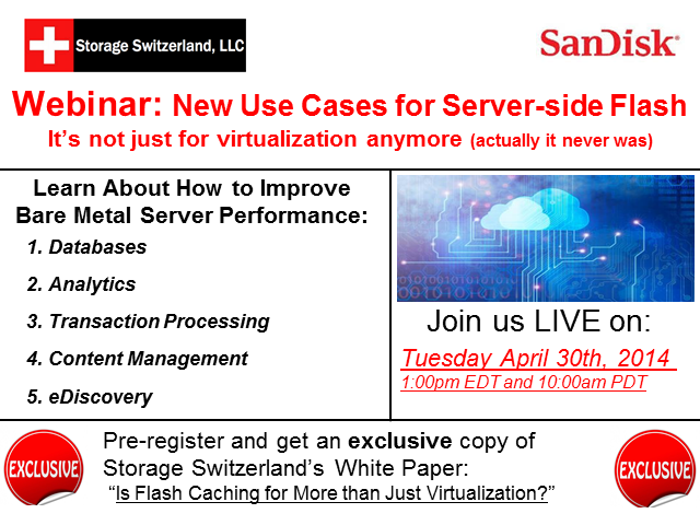 New Use Cases For Server Side Flash