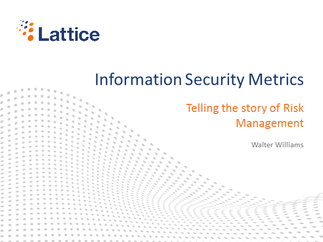 Information Security Metrics