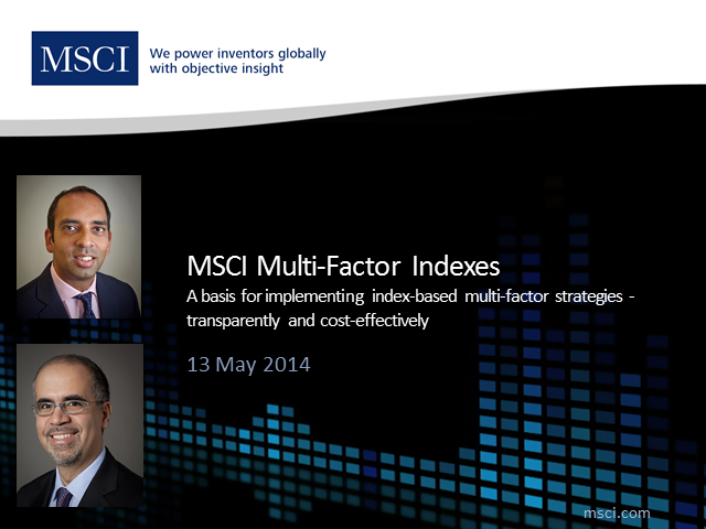 MSCI Multi-Factor Indexes